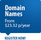 Register your .com.au Domain name from $23.32 per year